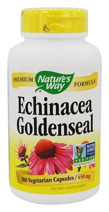 Nature's Way - Echinacea Goldenseal 450 mg. - 180 Vegetarian Capsules