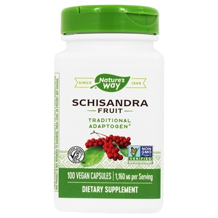 Nature's Way - Schizandra Fruit 580 mg. - 100 Capsules