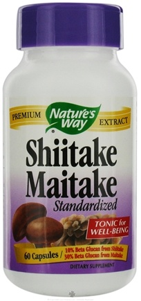 DROPPED: Nature's Way - Shiitake-Maitake Standardized Extract - 60 Capsules CLEARANCE PRICED