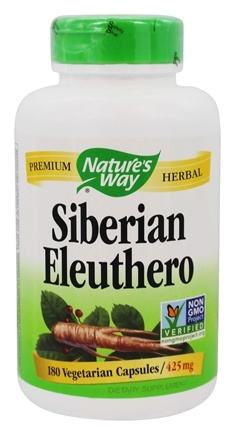 Nature's Way - Siberian Eleuthero Root 410 mg. - 180 Capsules