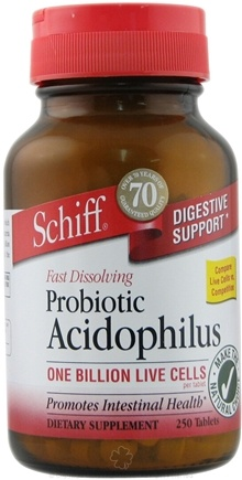DROPPED: Schiff - Probiotic Acidophilus - 250 Tablets