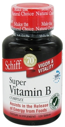 DROPPED: Schiff - Super Vitamin B Complex - 120 Tablets