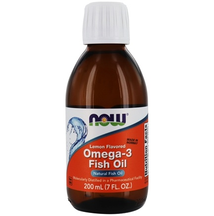 NOW Foods - Omega-3 Fish Oil Lemon Flavored - 7 oz.