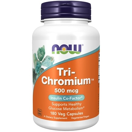 NOW Foods - Tri-Chromium 500 mcg. - 180 Vegetarian Capsules