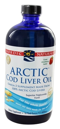 Nordic Naturals - Arctic Cod Liver Oil Strawberry - 16 oz.