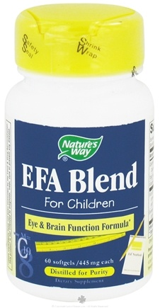 DROPPED: Nature's Way - EFA Blend for Children 445 mg. - 60 Softgels CLEARANCE PRICED
