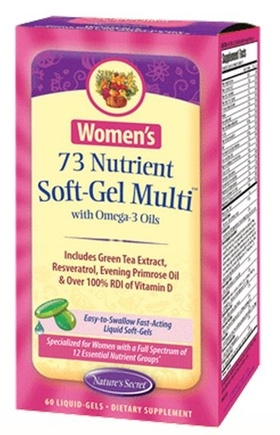 DROPPED: Nature's Secret - Women's 73 Nutrient Multi with Omega-3 Oils - 60 Softgels