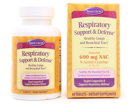 DROPPED: Nature's Secret - Respiratory Cleanse & Defense Healthy Lungs & Bronchial Tract - 60 Tablets CLEARANCE PRICED