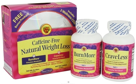 DROPPED: Nature's Secret - Caffeine-Free Natural Weight Loss - BurnMore 44 Tablets & CraveLess 44 Tablets - 88 Tablet(s)