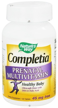 DROPPED: Nature's Way - Completia Prenatal Multi-Vitamin - 120 Tablets CLEARANCE PRICED