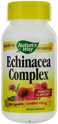 DROPPED: Nature's Way - Echinacea Root Complex (Certified Organic) 450 mg. - 100 Capsules