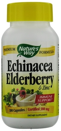 DROPPED: Nature's Way - Echinacea, Elderbery, & Zinc 380 mg. - 100 Capsules