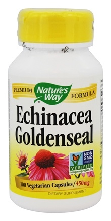 Nature's Way - Echinacea-Goldenseal (Certified Organic) 450 mg. - 100 Capsules