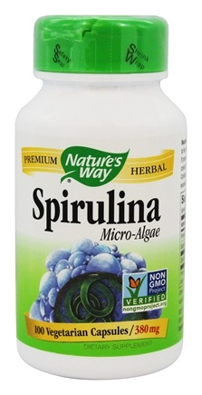 Nature's Way - Spirulina Micro-Algae 380 mg. - 100 Capsules