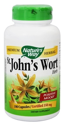Nature's Way - Saint John's Wort Herb 350 mg. - 180 Capsules