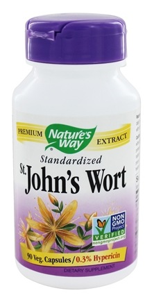 Nature's Way - Saint Johns Wort Standardized Extract - 90 Capsules