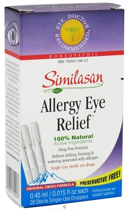 DROPPED: Similasan - Allergy Eye Relief 100% Natural 20 Single-Use Droppers - 20 Dropper(s) CLEARANCE PRICED