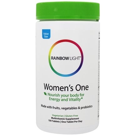Rainbow Light - Women's One Food-Based Multivitamin 800 IU - 150 Tablets