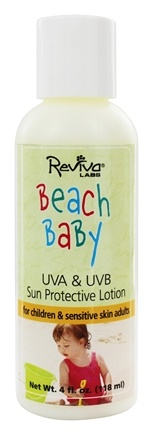 DROPPED: Reviva Labs - Beach Baby UV A/B Sun Protective Lotion SPF 25 - 4 oz.