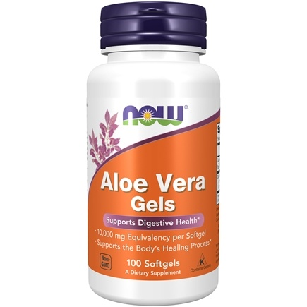NOW Foods - Aloe Vera Gels 5000 mg Equivalency - 100 Softgels