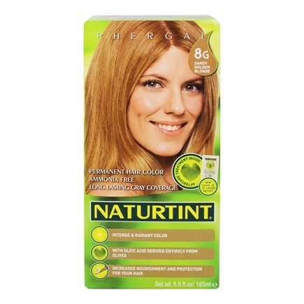 Naturtint - Permanent Hair Colorant 8G Sandy Golden Blonde - 4.5 oz.