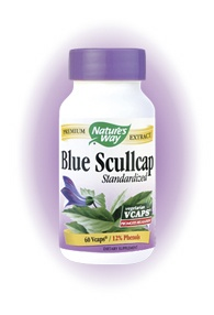 DROPPED: Nature's Way - Standardized Blue Scullcap - 60 Vegetarian Capsules