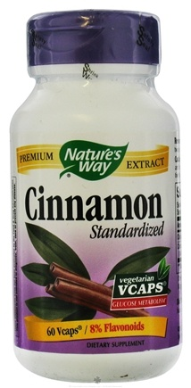 DROPPED: Nature's Way - Standardized Cinnamon - 60 Vegetarian Capsules