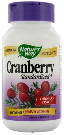 DROPPED: Nature's Way - Standardized Cranberry - 60 Tablets CLEARANCE PRICED