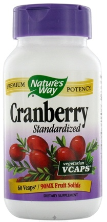 DROPPED: Nature's Way - Standardized Cranberry - 60 Vegetarian Capsules CLEARANCE PRICED