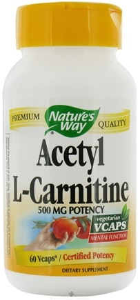 DROPPED: Nature's Way - Acetyl L-Carnitine 500 mg. - 60 Vegetarian Capsules CLEARANCE PRICED