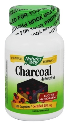 Nature's Way - Charcoal Activated Certified 280 mg. - 100 Capsules