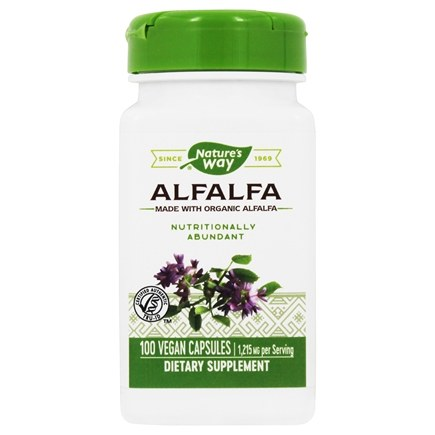 Nature's Way - Alfalfa Young Harvest 405 mg. - 100 Vegetarian Capsules