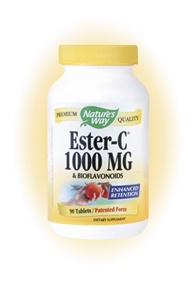 DROPPED: Nature's Way - Ester-C 1000-Bioflavonoids - 90 Tablets