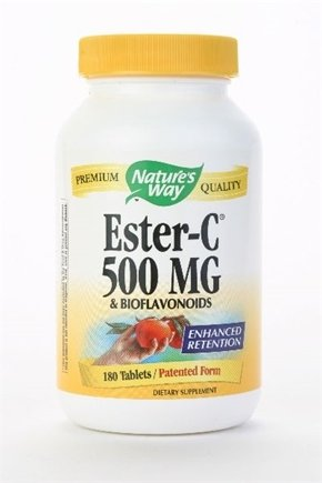 DROPPED: Nature's Way - Ester-C 500-Bioflavonoids - 180 Tablets