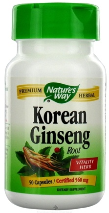 DROPPED: Nature's Way - Korean Ginseng Root 560 mg. - 50 Capsules