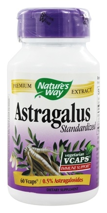 Nature's Way - Standardized Astragalus - 60 Vegetarian Capsules