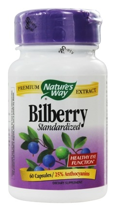 Nature's Way - Bilberry Standardized Extract - 60 Capsules