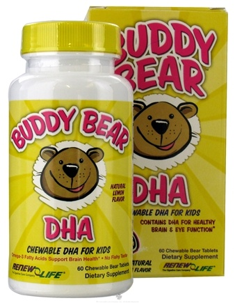 DROPPED: ReNew Life - Buddy Bear DHA Chewable Supplement for Children Lemon - 60 Tablets