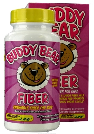 DROPPED: ReNew Life - Buddy Bear Fiber Supplement for Children Cherry - 60 Chewable Tablets