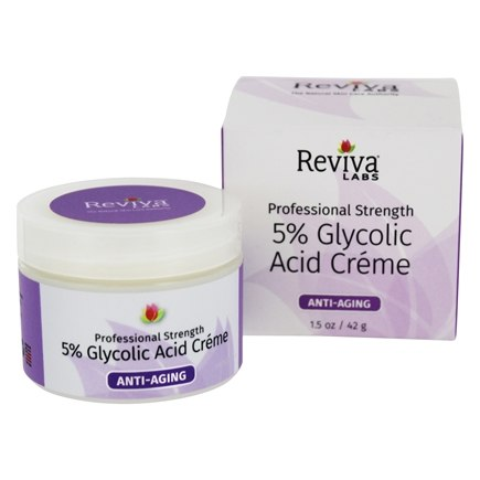 Reviva Labs - 5% Glycolic Acid Cream - 1.5 oz. Formerly: Glycolic Acid Renaissance Cream