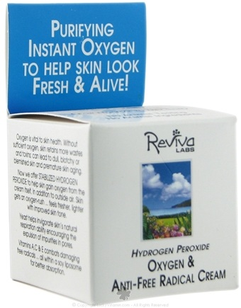 DROPPED: Reviva Labs - Hydrogen Peroxide Oxygen Cream - 1.5 oz.