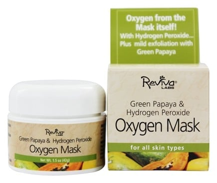 Reviva Labs - Green Papaya & Hydrogen Peroxide Oxygen Mask - 1.5 oz.