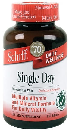 DROPPED: Schiff - Sustained Release Single Day Multi Vitamin - 120 Tablets