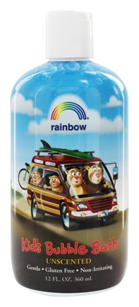 Rainbow Research - Organic Herbal Bubble Bath For Kids Unscented - 12 oz.