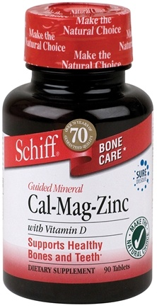 DROPPED: Schiff - Guided Minerals Cal-Mag-Zinc with Vitamin D - 90 Tablets