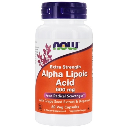 NOW Foods - Alpha Lipoic Acid 600 mg. - 60 Vegetarian Capsules