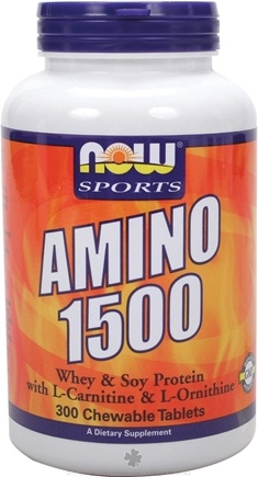 DROPPED: NOW Foods - Amino 1500 - 300 Chewable Tablets