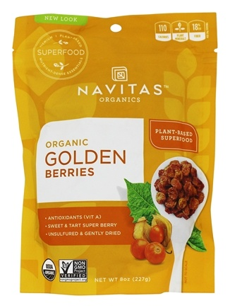 Navitas Naturals - Golden Berries (Gooseberries) Certified Organic - 8 oz.
