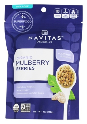 Navitas Naturals - Mulberry Power Mulberries Certified Organic - 4 oz.