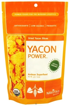 DROPPED: Navitas Naturals - Yacon Power Dried Yacon Slices - 4 oz. CLEARANCE PRICED